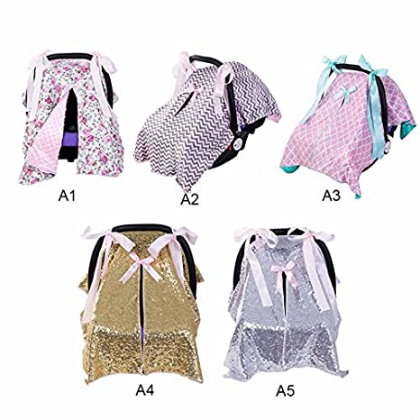 Strollers Keebgyy Stylized Baby Sun Shield Car Seat Cover Canopy Protecting Your Baby from Mosquitos Insects and the Sun Cozy Cover Sun Bug Cover for Baby Basket Seat Car Seat
