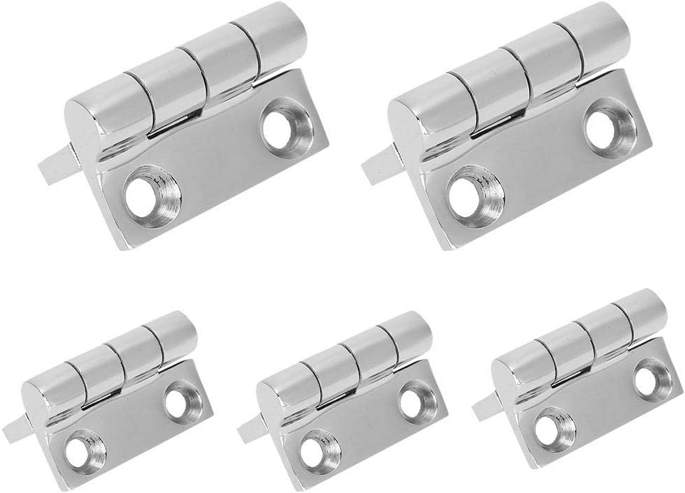 Four Hole Boat Hinge 316 Grade Stainless Steel Square Hinge Yacht Replacement Accessories