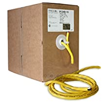ThruSound Yellow 12 AWG 4 Conductor FT4 In-Wall Speaker Wire - Made in Canada (250ft)