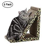 PGFUN Flat Corrugated Scratching Pad Board Kittens Scratcher Lounge Cardboard with Catnip 3-Pack
