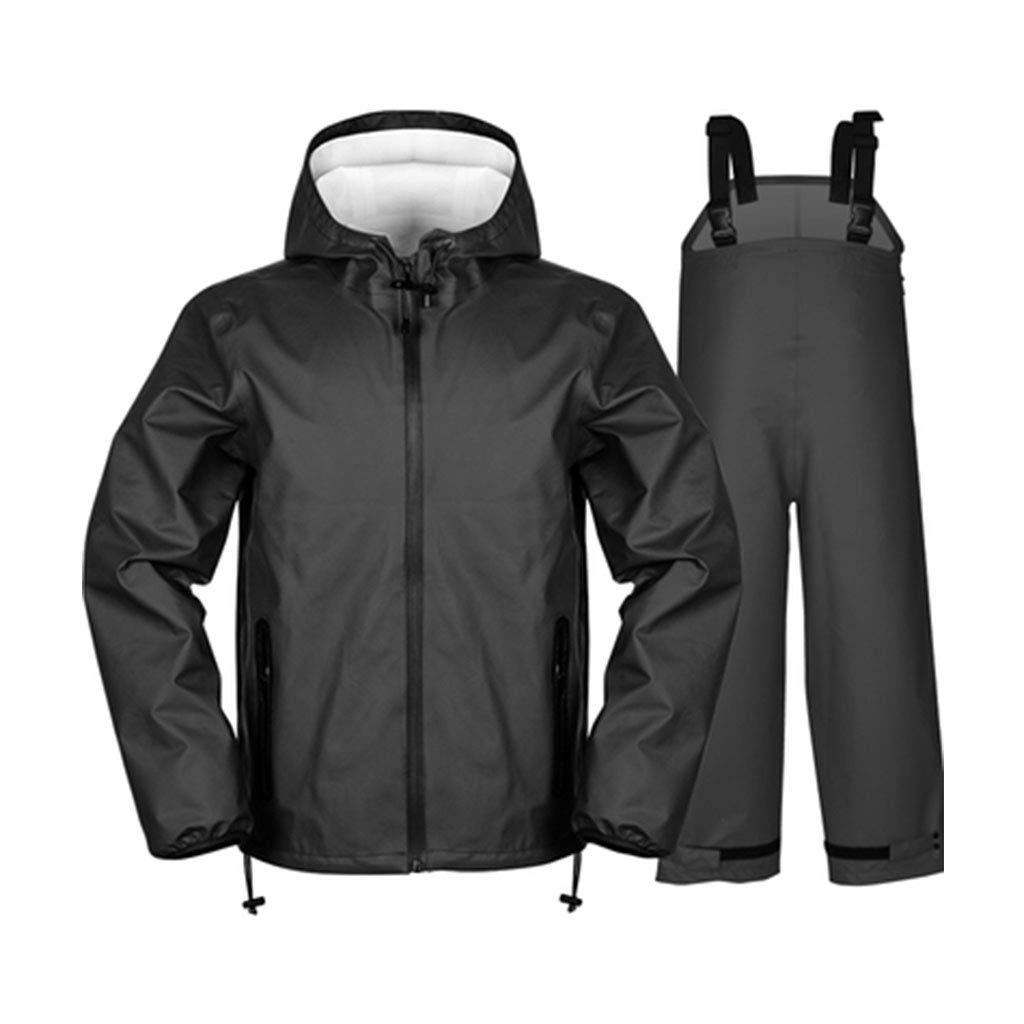 noir Suit Medium JTWJ Imperméable imperméable épais pour Hommes imperméable imperméable imperméable pour Hommes Split Split imperméable équitation (Noir, Bleu) (Couleur   bleu veste, Taille   M)