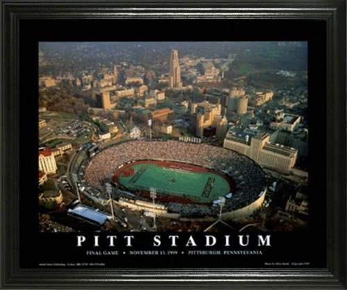 Pittsburgh Panthers - Pitt Stadium Aerial - Lg - Framed Poster Print