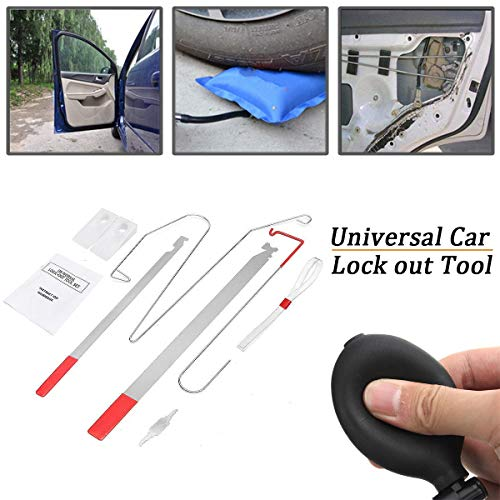 DEDC Universal Car Door Key Lost Lock Out Emergency Open Unlock Key Tool Kit Auto Repair Tools for Vehicle