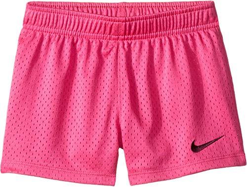 Nike Kids Girl's Classic Mesh Shorts (Little Kids) Laser Fuchsia 6X