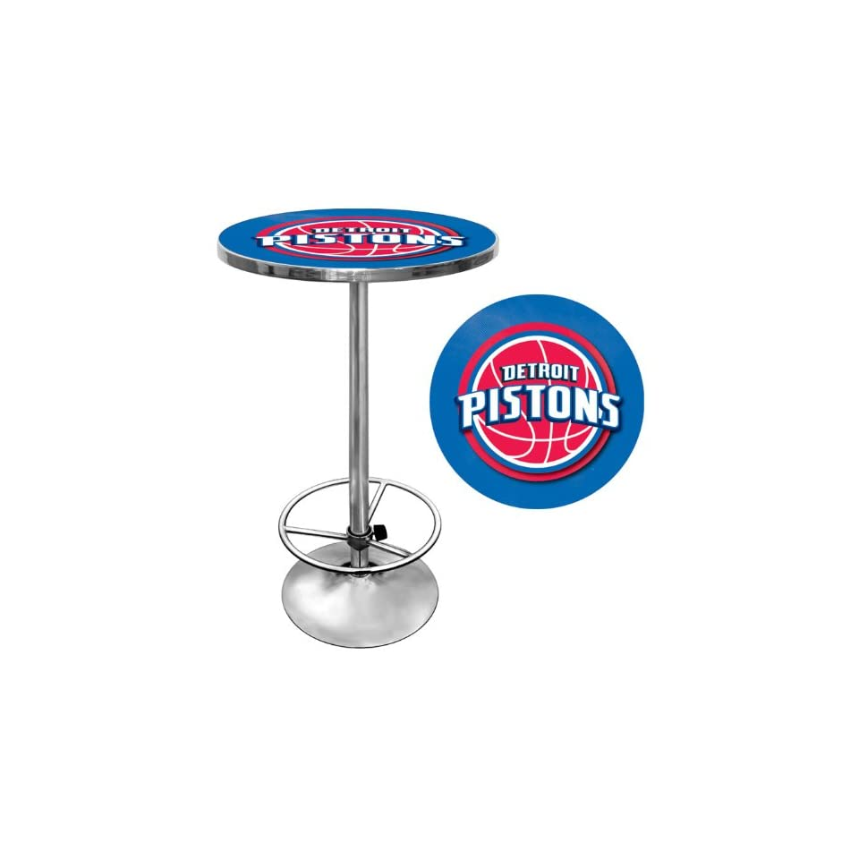 Detroit Pistons Nba Chrome Pub Table  Other Products