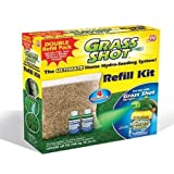 Grass Shot Refill Kit (Covers 700 sq. ft.) – 2 lbs. Seed Blend & 2 Bottles of Green Liquid Formula