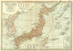 Amazon japan korea sino japanese war 1894 shimonoseki 18634 sino japanese war 1894 shimonoseki 18634 battlesdates 1903 old map antique map vintage map japan maps gumiabroncs Images