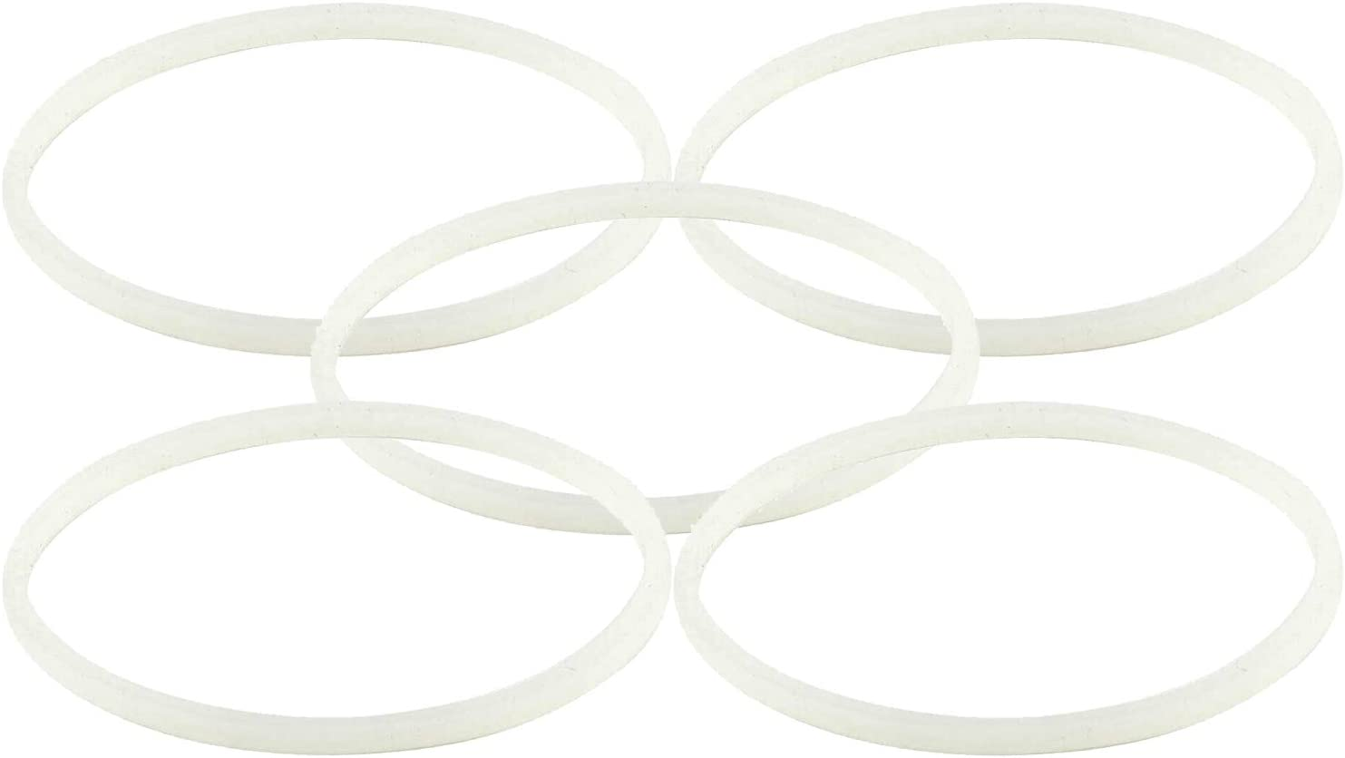 5 Pack Rubber Gaskets Replacement Seal White O-Ring for Nutri Ninja Pro Blender Replacement For Ninjia BL660 BL663 BL663CO BL665Q BL740 BL770 BL773CO BL771 BL772 BL780 BL780CO (3.13 inch Gaskets)