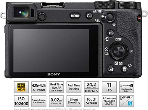 Sony Alpha ILCE-6600 24.2 MP Mirrorless Camera Body only (APS-C Sensor, Fastest Auto Focus, Real-time Eye AF, Real-time… 3