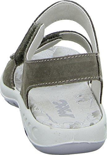 Imac 112479 Sandalette Sandale Kinderschuh Mädchen Veloursleder Pailletten Strass Klettverschluss Farbe: Braun