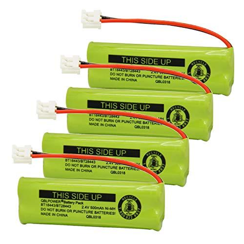 - QBLPOWER BT18443 BT28443 BT-18443 BT-28443 Cordless Phone Battery Compatible with VTech LS-6115 LS-6117 LS-6125 LS6126 LS6225 LS6205 LS6217 LS-6205 LS-6215 (4 Pack)