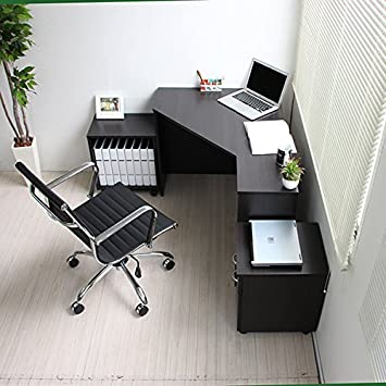 L字型 足元広々スペース コーナーデスク 木製天板 パソコンデスク desk ワークデスク 木製 PCデスク 机 デスク 家具 オフィスデスク