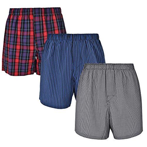 Fitting Boxers - Reed Edward Classic ComfortFlex Waistband Boxer Shorts - 3 Pack