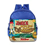 Kids Jake And The Never Land Pirates School Backpack Style Baby Boys Girls School Bag RoyalBlue