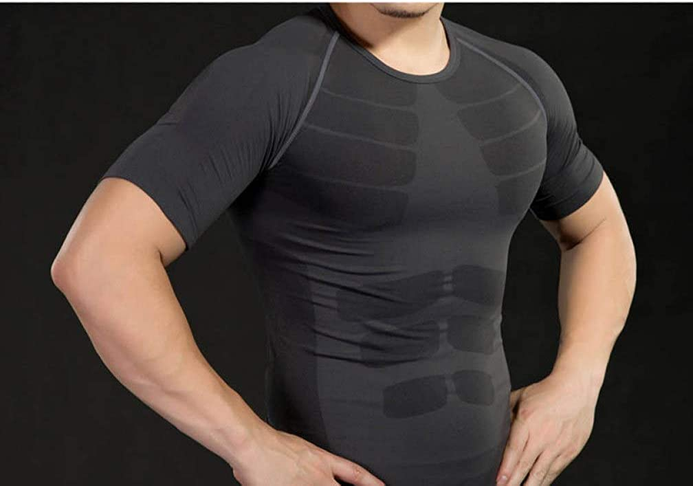 XINGFAN Mens Slimming Body Shaper Gynecomastia Moobs Chest Compression Vest