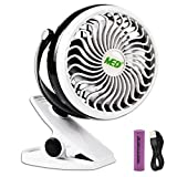 Med 90 Baby Stroller Mini Battery Operated Clip Fan,Small Portable Fan Powered