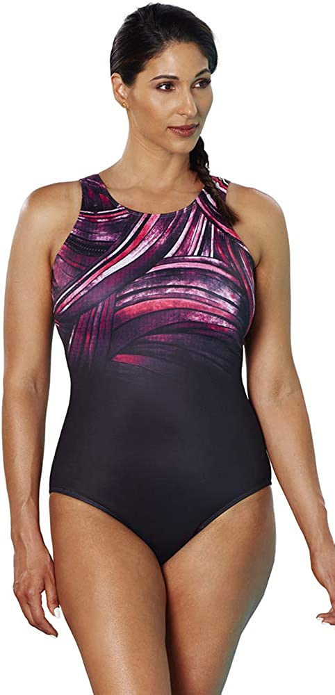 Swimsuits for All Womens Plus Size High Neck One Piece Swimsuit