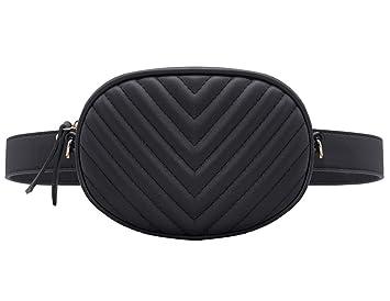 2efa78f78 CRAZYCHIC - Bolso de Cintura Ovalado Mujer - Bolso Riñoneras Fanny Pack Bum  Bag Cuero Genuino