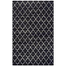 Superior Designer Trellis Area Rug Collection 8X10 Black/Silver
