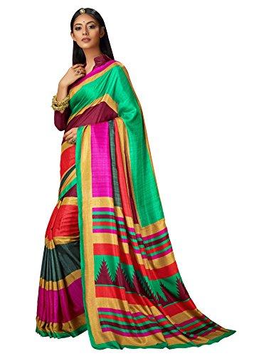 Ruchi Mart Bollywood Saree Party Wear Printed Indian Pakistani Wedding Cultural Women - Wedding Saree Bollywood