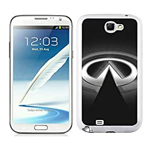 Easy Set,Fasionable Case infiniti logo 2 Samsung Galaxy Note 2 White Phone Case