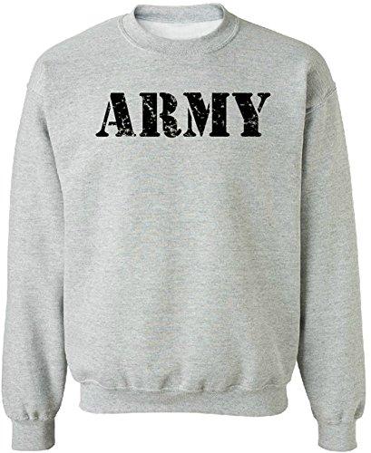 (Joe's USA - Vintage ARMY Crewneck Sweatshirts - Army Grey - Medium)