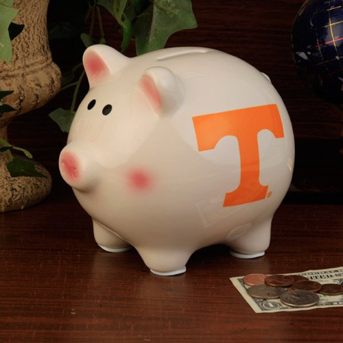 The Memory Company NCAA University of Tennessee, Knoxville Official Team Piggy Bank, Multicolor, One Size
