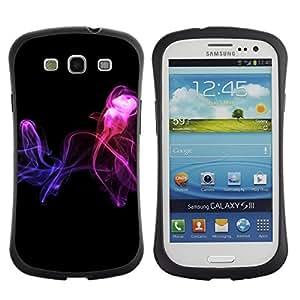 """Hypernova Slim Fit Dual Barniz Protector Caso Case Funda Para SAMSUNG Galaxy S3 III / i9300 / i747 [Resumen de humo""""]"""