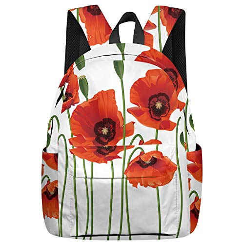 Arts Language Leisure Backpack School Book Bag for Teens Girls/Kids Opium Poppy Printed Laptop Bag Women Casual Daypacks for Travel (Opium Made Easy)