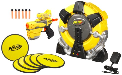 Nerf's N-Strike Elite Hail-Fire, the flagship dart blaster of Nerf's 2012  lineup is a hulking semiautomatic with unprecedented ammo capacity and a  75-foot ...