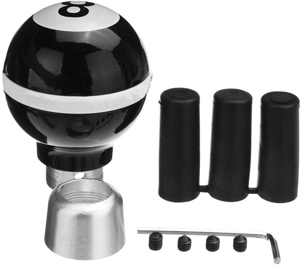 Flushzing Auto-Gangschaltung-Resin Schwarz Knob 8 Billardkugel-Form-Universal-Handbuch Lever-Stick Shifter