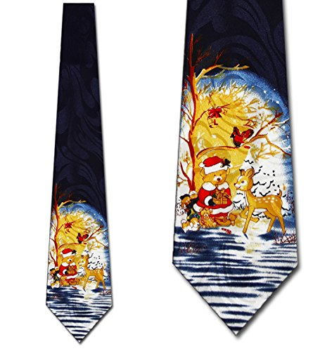 Christmas Teddy Bear Tie - Men's Holiday Necktie
