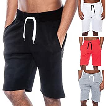 Men Sport Pants Loose Drawstring Gym Fitness Training Running Shorts Trousers - White 2XL