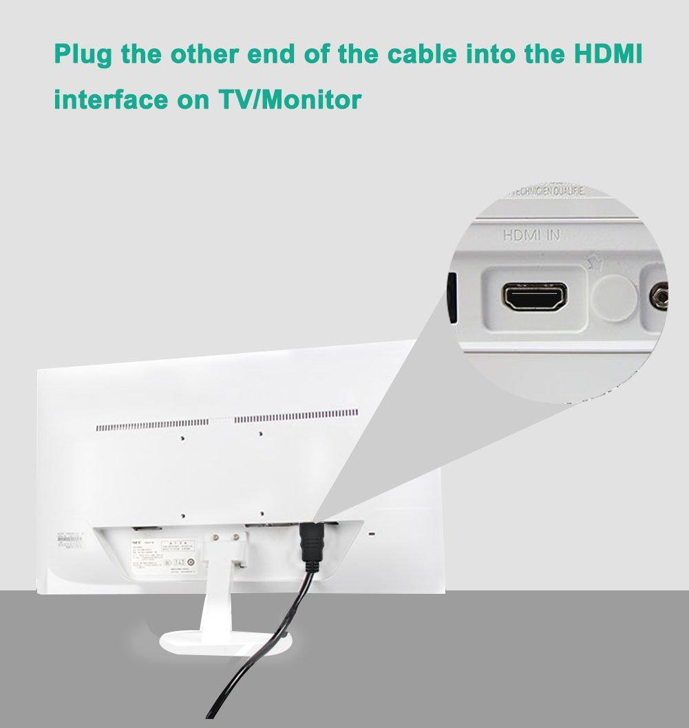 FOINNEX Cable Adaptador VGA a HDMI 3M/Metros, (PC Antiguo TV/Monitor con HDMI), Convertidor VGA a HDMI con Audio para conectar PC, Ordenador portátil con ...