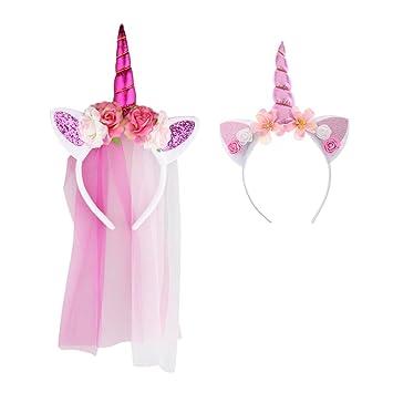 Sharplace Traje de Unicornio Niñas Mágico Rosa Floral ...