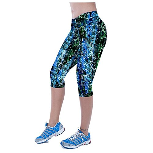 Cheap Usstore High Waist Fitness Yoga Sport Pants For Women Multicolor Cropped Leggings (M)