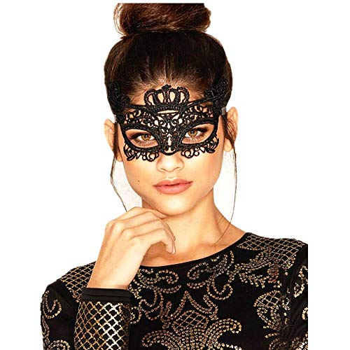 Halloween Costumes For Glasses Wearers (Lace Masquerade Mask Elastic,Fit for Adult,Soft Gentle Material,Specially for Costume,Thememed Party)
