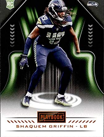 2018 Panini Playbook Orange  166 Shaquem Griffin Rookie Seattle Seahawks RC  NFL Football Trading Card d351e4bbe