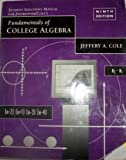 Fundamentals of College Algebra, Swokowski, Earl William, 0534346006