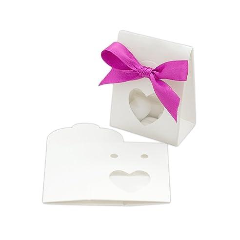 10x Kartonage Tüte \'Herz\' WEIß für Gastgeschenke - Basteln ...
