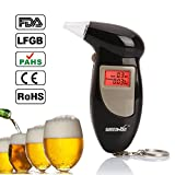 GREENWON Digital Alcohol Breath Tester Breathalyzer Analyzer Detector Test Keychain