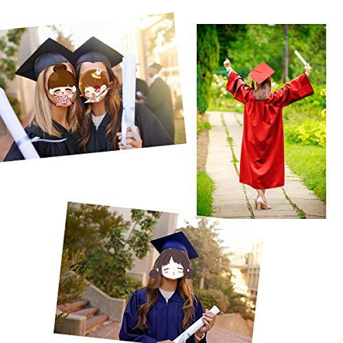 5134420a149 GGS Unisex Matte Graduation Gown Cap Tassel for Bachelor High School 2019  Year Charm Black