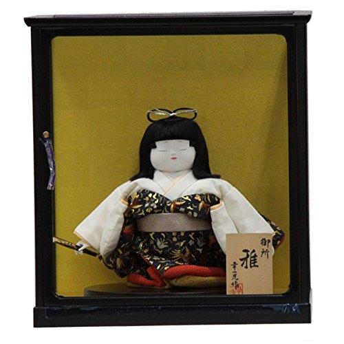 童人形 御所雅(扇子) ケース付きmk1022 幅22cm 3mk188 幸一光作   B075GJ69XP
