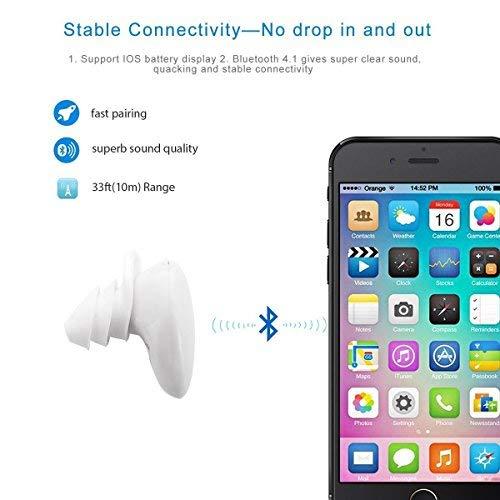 Auriculares Bluetooth, Auriculares estéreo inalámbrico para el Deporte, Funcionamiento con micrófono, reducción de Ruido Compatible con iPhone 7 7Plus 6s 6 y Android