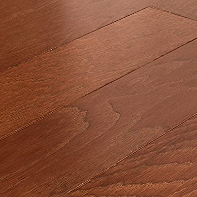 "Allen + Roth Hickory Warm Cherry 3/8"" Engineered Hardwood Flooring 427176 SAMPLE"