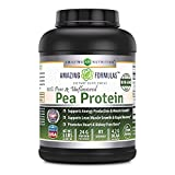 Amazing Nutrition Amazing Formulas 100% Pure & Unflavored Pea Protein Dietary Supplement – 5 lbs – Supports Energy Production and Muscle Growth – Promotes Heart and Kidney Function For Sale