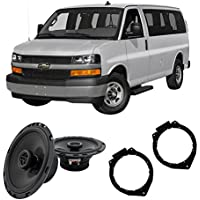 Fits Chevy Express 2008-2017 Front Door Factory Replacement Harmony HA-R65 Speakers
