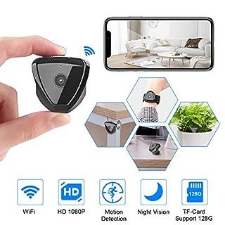 Mini Spy Camera WiFi, HD 1080P Mini Spy Camera Wireless Hidden Camera, Live Stream Motion Activated, Night Version Hidden Camera Wireless, Nanny Cam Security Camera for Home and Outdoor