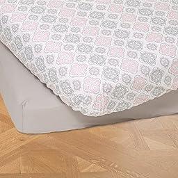Summer Infant 4 Piece Classic Bedding Set with Adjustable Crib Skirt, Parisian Pink