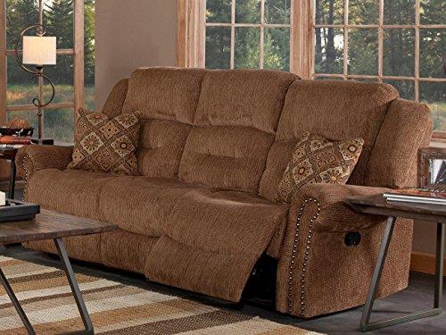 Juniper Dual Motion Recliner Sofa in Dusty Brown